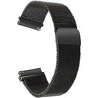 Per LG Watch Style Cinturino, TRUMiRR 18mm Cinturino cinturino magnetico a sgancio rapido cinturino cinturino cinturino in acciaio inossidabile per Huawei Watch/Fit, Withings Activite/Pop/Sapphire/Steel/Steel HR 36mm, Daniel Wellington 36mm