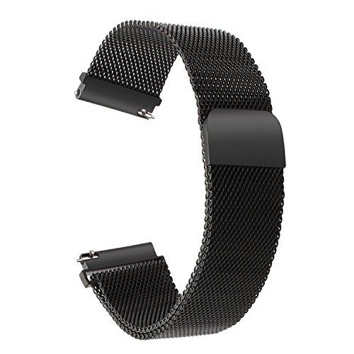 Für Nokia Steel HR 36mm Armband, TRUMiRR 18mm Milanese Edelstahl Armband Magnetband Schnellverschluss Handgelenk Uhrenarmband für Huawei Watch 1st/Fit Honor S1, Asus Zenwatch 2 Women 1.45\'\' WI502Q, Withings Activite/Pop/Steel HR 36mm, Fossil Q Tailor, LG Watch Style, 36mm Daniel Wellington