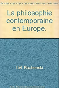 Amazon Fr La Philosophie Contemporaine En Europe Traduit