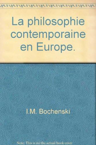 La philosophie contemporaine en Europe - Traduit sur la 2eme édition allemande par François Vaudou