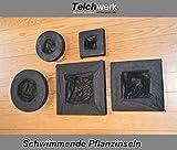 Schwimmende Pflanzinsel Gartenteichinsel Pflanzeninsel schwimmend (40 x 40 cm Maxirechteck)