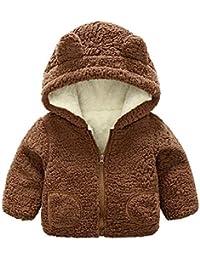 Ropa para niños Chaqueta Abrigada a Prueba,JiaMeng otoño con Capucha Abrigo Capa Gruesa Tela Caliente