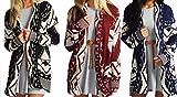 Search : Red Olives® Women's Halloween Skull Drape Aztec Long Knitted Cardigan Ladies Owl Leopard Open Jumper Knitwear Top UK 8-22