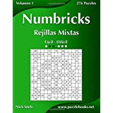 Numbricks Rejillas Mixtas - De Fácil a Difícil - Volumen 1 - 276 Puzzles