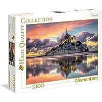 Clementoni 39367 - Puzzle 1000 HQC le Magnifique Mont Saint Mi