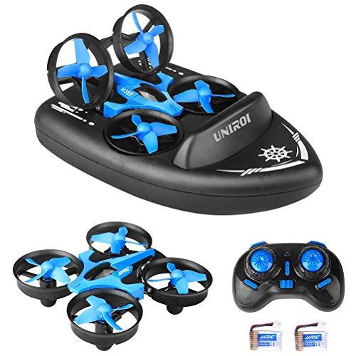 HEITIGN JJRC H36F 3 in 1 Mini RC Drohne Fernbedienung Auto / Boot / Quadcopter Modus, 2.4G vierachsige Flugzeuge Remote Hovercraft mit 360 ° Flips Stunt Headless Mode Kinder Spielzeug Geschenke