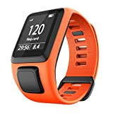Cobar Watchband for Tomtom Watch, Silicona Impermeable Respirable Sport Fitness Correa de Reloj reemplazo para Tomtom Runner 2/ Runner 3/ Spark/Golfer 2 Sports GPS Running Smartwatch