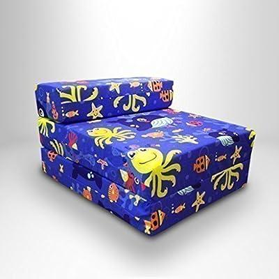 Aqua Time - Cama/sillón plegable individual para niño