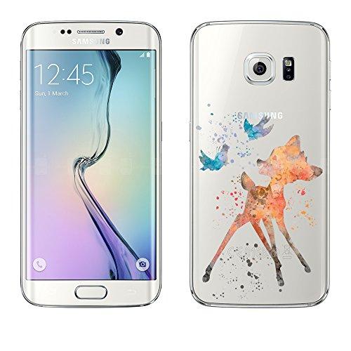Samsung Galaxy S6 Edge Caso por licaso® para el patrón de Samsung Galaxy S6 Edge Bambi Ciervo Fábula TPU de silicona ultra-delgada proteger su Samsung Galaxy S6 Edge es elegante y cubierta regalo de coches