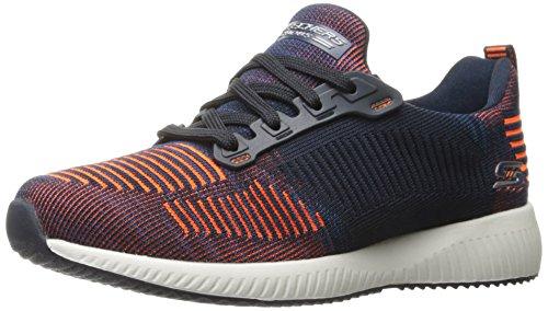 Skechers Damen Bobs Squadra-doppia Sfida Slip On Sneaker Navy - Orange