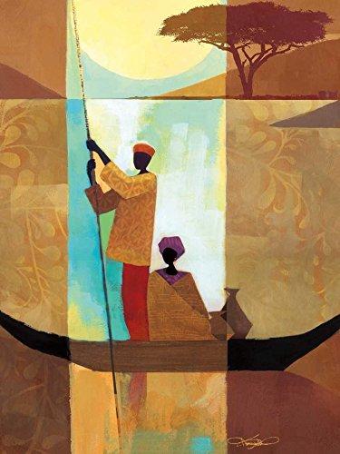 Keith Mallett - On The River II Kunstdruck (22,86 x 30,48 cm) -