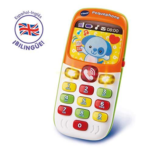 VTech Pequephone bilingüe, teléfono infantil con luces,...