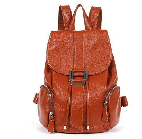 DJB/ Retro-College Wind lässig Rucksack Rucksack Handtasche Ledertasche brown spot