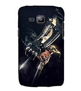 FUSON Caucasian Man A Knife 3D Hard Polycarbonate Designer Back Case Cover for Samsung Galaxy J2 (6) 2016 J210F :: Samsung Galaxy J2 Pro (2016)