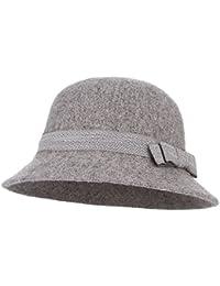 bde7e00c1483 La Vogue Women's Wool Felt Cloche Hats Basin Cap Autumn Winter Ladies Derby  Cloche Hat with