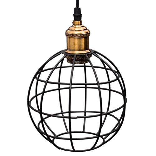 Retro Metal Suspensions Luminaire Vintage Suspensions Cage Industrielle Plafonnier Luminaire Pendentif Lumiere Vintage Plafonnier Industriel Lustre Vintage Edison Minimaliste Lampe