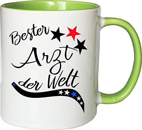 Mister Merchandise Becher Tasse Bester Arzt der Welt. Kaffee Kaffeetasse liebevoll Bedruckt Beruf...