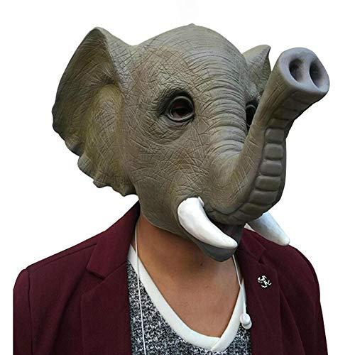 TBGGFSD Animal Elefante Cabeza Máscara Latex Hood Halloween Masquerade Mostrar Accesorios Venta Lindo