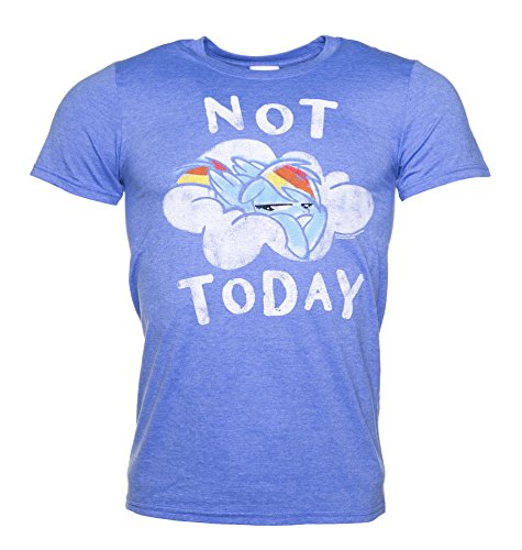 TruffleShuffle Mens Rainbow Dash Not Today Heather Royal T Shirt (Print Screen Rainbow)