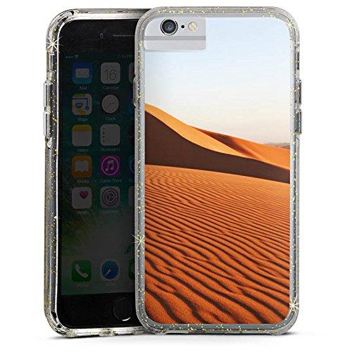 Apple iPhone 6s Bumper Hülle Bumper Case Glitzer Hülle Sand Dünen Duene Bumper Case Glitzer gold