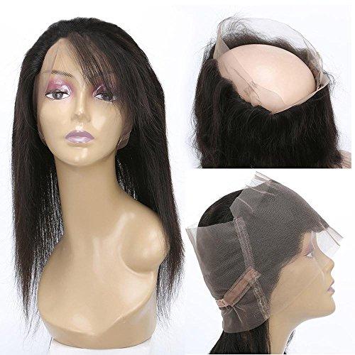 XYLUCKY Brasilianische Jungfrau 100% echte Haar Perücken mit 360 Full Lace Frontal Perücken Schwarz Lange Perücke für Frauen , (Frauen Für Zoll Halloween)