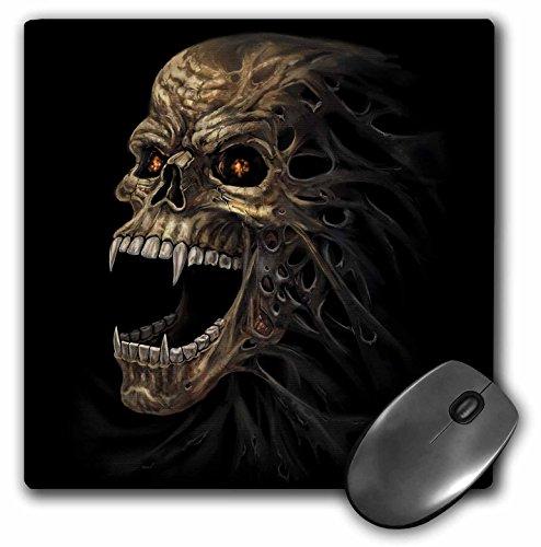 3dRose mp_280164_1 Mauspad, Motiv Vampirschädel mit brennenden Augen im Dunkeln, 20,3 cm, mehrfarbig -