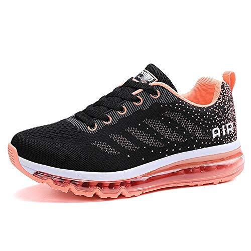 Unisex Herren Damen Sneakers Sportschuhe Bequeme Laufschuhe Schnürer Air Running Shoes 35-45(833Rored41)