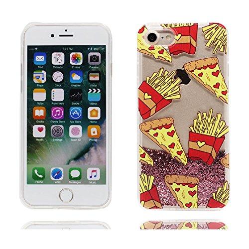 iPhone 7 Custodia, Vista trasparente Case gel libera progettata, iPhone 7 Copertura 4.7 / Cover Cartoon ( Love ) / Farfalla di Bling / Durable color 9