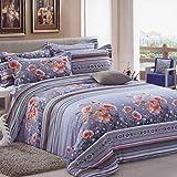 Weimilon Baumwolle Bettbezug Vier Jahreszeiten,Gitter,Gestreift,Einzigen,Student,Individuell,Double A Casual Chic 200X230Cm(79X91Inch) (Color : V, Size : 150x215Cm)