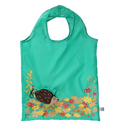 (brown) - Sass & Belle Foldable Compact Reusable Shopping Bag