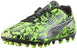 Puma Unisex-Kinder ONE 19.4 MG Jr Fußballschuhe Grün (Green Gecko Black-Charcoal Gray), 34 EU