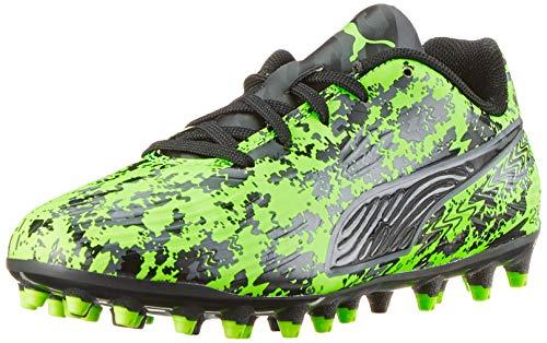 Puma Unisex-Kinder ONE 19.4 MG Jr Fußballschuhe Grün (Green Gecko Black-Charcoal Gray), 29 EU