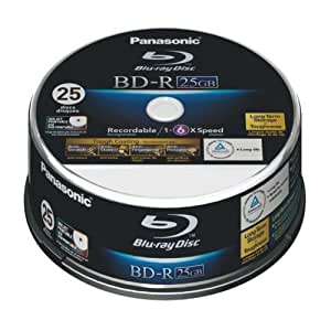Panasonic LM-BRS2MWE25 25GB Write-Once Blu-Ray Disc 25 Pod Spindle