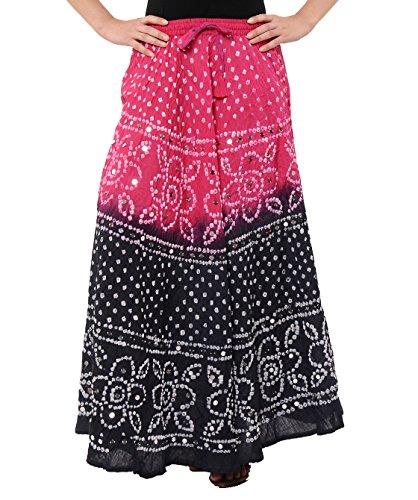 Soundarya - Jupe - Femme Multicolore - Pink/ Black