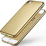 moex Apple iPhone 7/8 | Hülle Gold Karbon Optik Pulse Back-Cover Schutzhülle...
