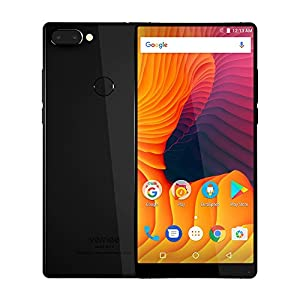 Vernee MIX 2 Smartphone 4G Unlocked 6 Inch 18:9 FHD+ Full Screen Helio P25 Octa-core 4GB RAM 64GB ROM Triple camera (8MP + 5MP + 13MP) Front and Back Glass Design 4200mAh Fingerprint Mobile Phone