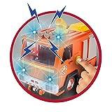 Simba 109251036 - Sam Jupiter Feuerwehrauto 2.0 / Mit Sam und Elvis Figur / mit Licht und Sound / Mit ausfahrbarer Leiter und Suchscheinwerfer / 28cm Test