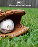 2020 Weekly and Monthly Planner: Monthly Calendar with U.S./UK/ Canadian/Christian/Jewish/Muslim Holidays- Calendar in Review/Notes 8 x 10 in.-Baseball and Mitt Baseball Recreation Sports