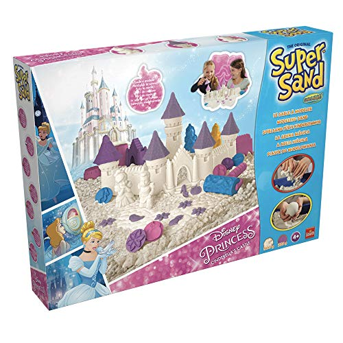 Súper Sand-83253 Disney Princess Castillo De Cenicienta, Arena Mágica para Niñas (Goliath 83253006)