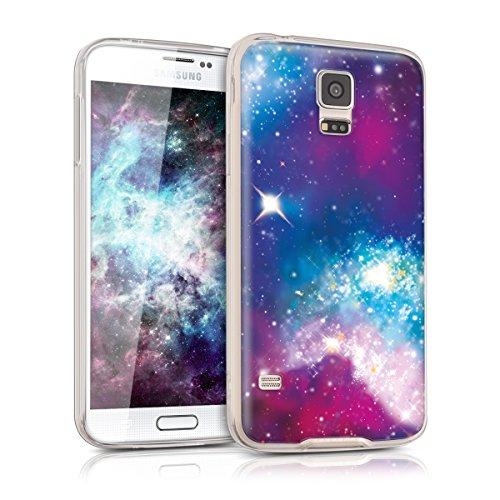 kwmobile Samsung Galaxy S5 / S5 Neo Hülle - Handyhülle für Samsung Galaxy S5 / S5 Neo - Handy Case in Mehrfarbig Pink Schwarz