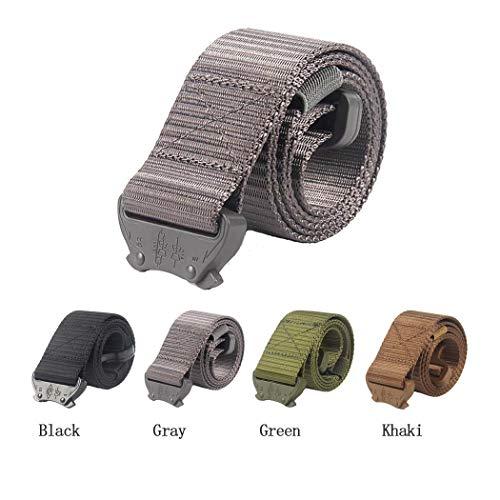 """Oleader Tactical Belt Military Gurtband Riggers Gürtel verstellbar Heavy Duty Schnellverschluss Schnalle für Männer und Frauen, grau, L:45""""/114cm Womens Webbing Belt"""