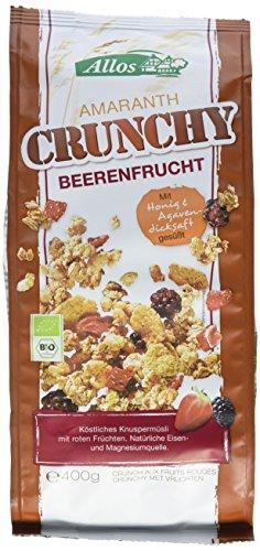 Allos Amaranth Crunchy Beerenfrucht, 3er Pack (3 x 400 g)