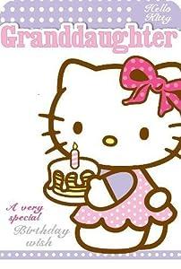 Gifts 4 All Occasions Limited SHATCHI-939 - Tarjeta de cumpleaños para nieta, diseño de Hello Kitty