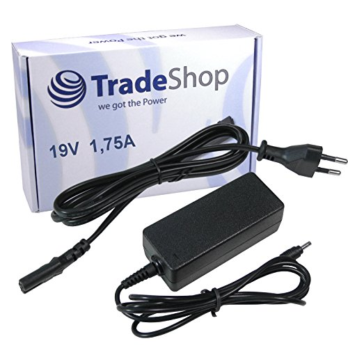 Trade-Shop Notebook Laptop Netzteil Ladegerät Ladekabel Adapter 19V/1,75A 4mm x 1,35mm inkl. Stromkabel für Asus F102BA F200CA F200MA K200MA X102B F553M UX42 UX42A UX42VS UX52 UX52A UX52VS X200LA X553 X553M X553MA