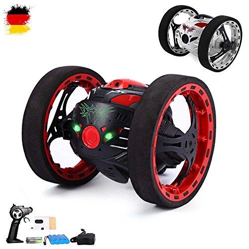 roiden-Fahrzeug Jumping Car mit faszinierender Sprungfunktion, Drehungen von 360° per Knopfdruck, Auto-Modell, Komplett-Set RTR inkl. Fernsteuerung, Akku und Ladegerät (Ferngesteuerte Autos Mit Kamera)