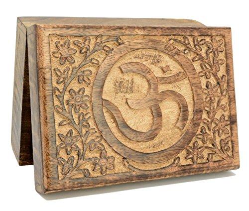 Piquaboo - Tarot de Madera Maciza con Cartel de Om Ohm (18 x 13 cm)
