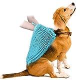 VOIMAKAS Hundehandtuch Extra Saugfähig, Großer Weich Hunde Handtuch Bademantel Microfiber Schnelltrocknend Warm Haustierhandtuch für Hunde Katzen 35 * 80 cm, Blau