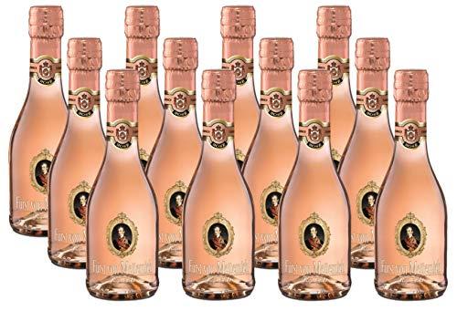 FÜRST VON METTERNICH Rosé Sekt Trocken (12 x 0.2 l) ǁ Piccolo ǀ kleine Flasche ǀ fruchtig & klar aromatisch ǀ Premiumsekt aus deutschem Spätburgunder ǀ besondere Anlässe