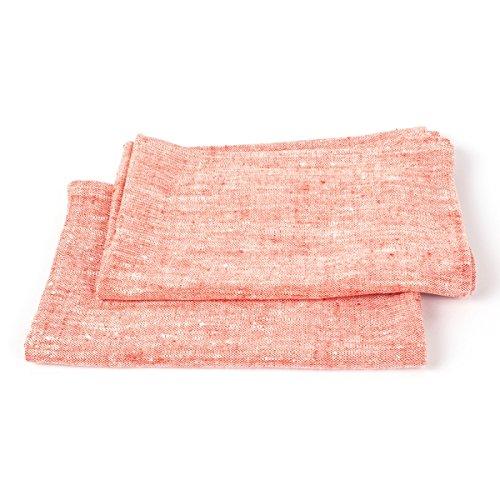 LinenMe, Francesca Hand-/Gästehandtücher aus rotem Leinen, 2-teiliges Set, 45 x 70 cm 0092408