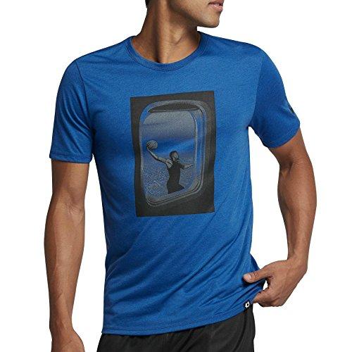 Für Männer Kd-shirts (857899 408|Nike Dry KD Freq Flyer T-Shirt Blau|S)